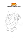 Coloring page Roblox Adopt Me Diamond Dragon