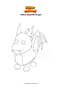 Coloring page Roblox Adopt Me Dragon