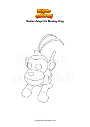 Coloring page Roblox Adopt Me Monkey King