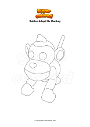 Coloring page Roblox Adopt Me Monkey
