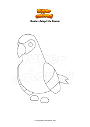 Coloring page Roblox Adopt Me Parrot