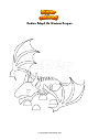 Coloring page Roblox Adopt Me Shadow Dragon