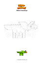 Coloring page Robot triceratops