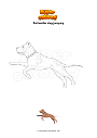 Coloring page Rottweiler dog jumping