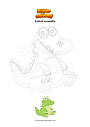Coloring page Seated crocodile