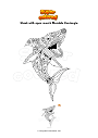 Coloring page Shark with open mouth Mandala Zentangle