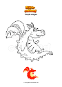 Coloring page Simple dragon