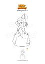 Coloring page Smiling Princess