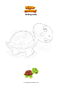 Coloring page Smiling turtle