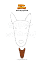 Coloring page Snout of greyhound