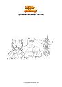 Coloring page Spiderman Hant Man and Hulk