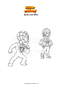 Coloring page Spidey and Miles