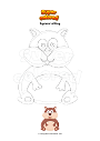 Coloring page Squirrel sitting
