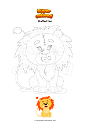 Coloring page Stuffed lion