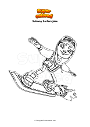 Coloring page Subway Surfers jake