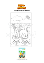 Coloring page Trip by car in the summer