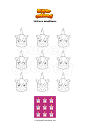 Coloring page Unicorn emoticons