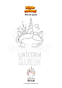 Coloring page Unicorn queen