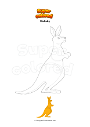 Coloring page Wallaby