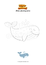 Coloring page Whale splashing water