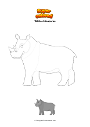 Coloring page White rhinoceros