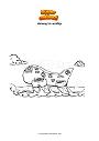 Dibujo para colorear Among Us airship