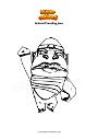 Dibujo para colorear Animal Crossing Jane