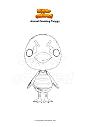 Dibujo para colorear Animal Crossing Twiggy