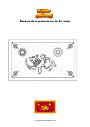 Dibujo para colorear Bandera de la provincia sur de Sri Lanka