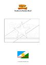 Dibujo para colorear Bandera de Roraima Brasil