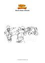 Dibujo para colorear Boruto ataca a Kakashi