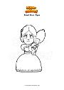 Dibujo para colorear Brawl Stars  Piper