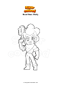 Dibujo para colorear Brawl Stars  Shelly