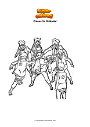Dibujo para colorear Clones Vs Shikadai