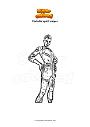 Dibujo para colorear Fortnite spirit sniper