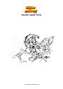 Dibujo para colorear Genshin Impact Yanfei