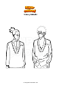 Dibujo para colorear Iruka y Kakashi