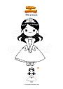 Dibujo para colorear Niña princesa