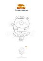 Dibujo para colorear Pequeña princesa oso