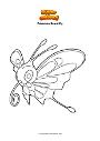 Dibujo para colorear Pokemon Beautifly