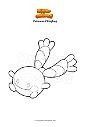 Dibujo para colorear Pokemon Chingling