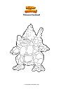 Dibujo para colorear Pokemon Coalossal