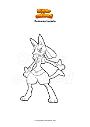 Dibujo para colorear Pokemon Lucario