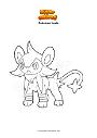 Dibujo para colorear Pokemon Luxio