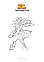 Dibujo para colorear Pokemon Mega Lucario