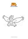 Dibujo para colorear Pokemon Mothim