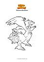 Dibujo para colorear Pokemon Reshiram