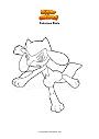Dibujo para colorear Pokemon Riolu