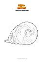 Dibujo para colorear Pokemon Sandaconda