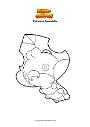 Dibujo para colorear Pokemon Sewaddle